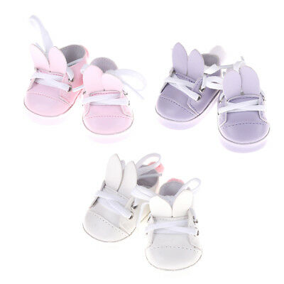 Rabbit shoes For 18 inch 45CM American Girl Doll, shoes for 43CM Zapf doll shoes