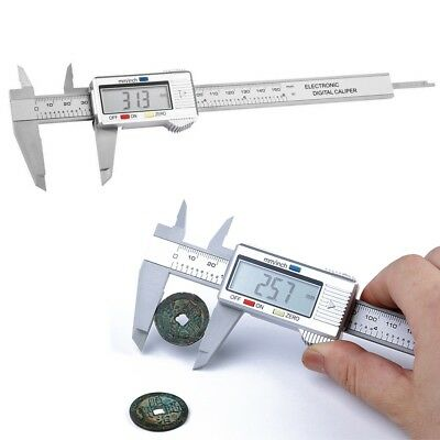 150mm/6inch LCD Digital Electronic Plastic Carbon Fiber Vernier Caliper Gauge