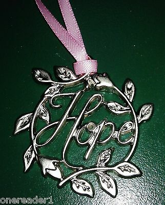 "Longaberger 2009 HORIZON OF HOPE ""Hope"" Pewter Tie-On tie on - NEW"