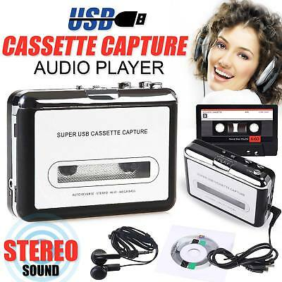 Portable Tape to PC Cassette-to-MP3 CD USB Converter Capture Audio Music Player