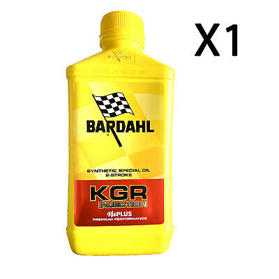 Bardhal Bardahl KGR Injection Olio Miscela Lubrificante Moto Quad Scooter 2T 1LT