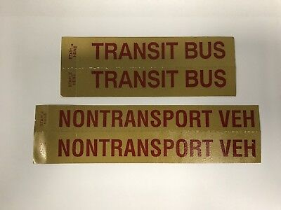 VINTAGE GOLD & RED Ohio License Plate TRANSIT BUS, NONTRANSPORT VEH STICKERS LOT