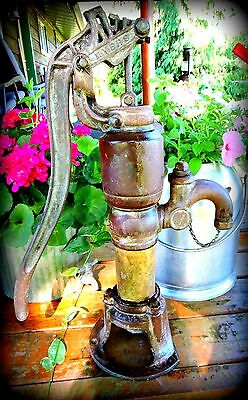 RARE  1912 MEYERS COG GEAR DOUBLE ACTING HOUSE  Old Water Pump - Check it Out!