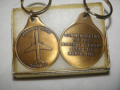 Northwest Orient Airlines Boeing 757 Commemorative Key Chain Nwa Delta Pilot !