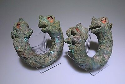 Luristan Large and Rare Bracelets with Beast Heads - Near Eastern - 1400 BC