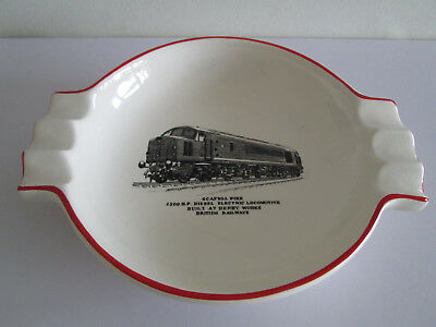 Rare Gray's Pottery Ashtray British Railways London Midland Scafell Pike Loco