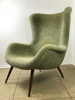 50er 60er Jahre Wingback Easy Chair Cocktail Chair Egg Chair Mid Century Design