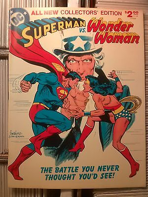 SUPERMAN VS WONDER WOMAN DC TREASURY Collectors' Edition #C-54  First Printing!