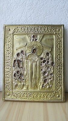 Icona Russa,Antique Russian Orthodox icon,,Theotokos,,from 19c.