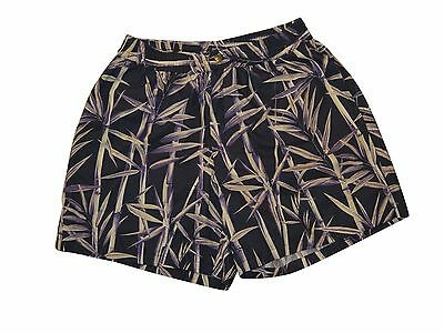 BRIONI Italy Men's Blue Purple Floral Swim Shorts Trunks with Pocket Size 2XL
