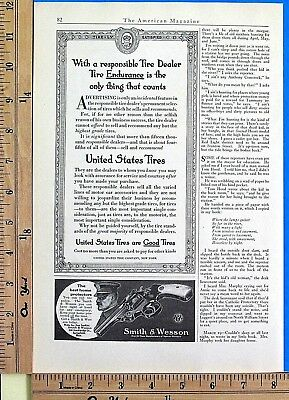 1913 SMITH & WESSON revolver handgun THE BEST HOME PROTECTOR Vtg Print Ad 7962