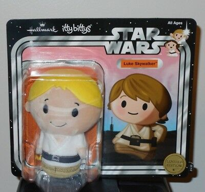 Hallmark Itty Bitty Bittys ~ LUKE SKYWALKER LTd. Edit. (Star Wars) NWT ~ Plush
