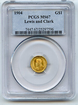 1904 Gold $1 Lewis & Clark Commemorative PCGS MS 67 Nice Frosty Luster