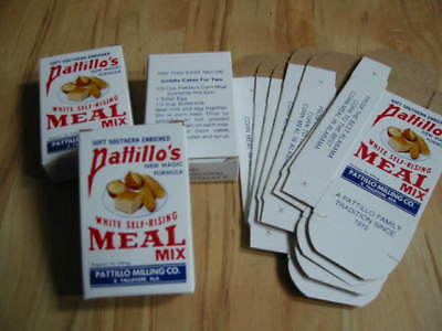 Lot of 10 Old Vintage -  Pattillo's CORN MEAL - Sample BOXES - Alabama