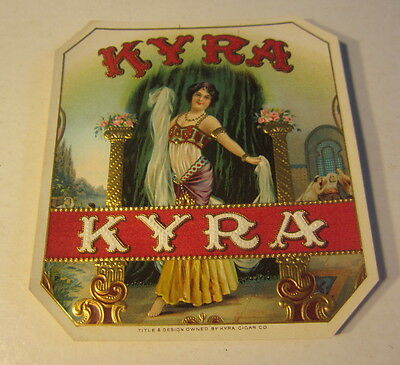 Wholesale Lot of 25 Original Old KYRA Outer CIGAR Box LABELS - Exotic DANCER
