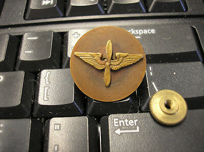 Vintage U.s. Army Air Corps/air Forces Branch & U.s. Collar Insignia- Screw Back