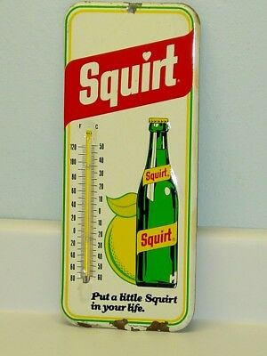 Vintage Advertising Thermometer Squirt, Soda Pop, Original