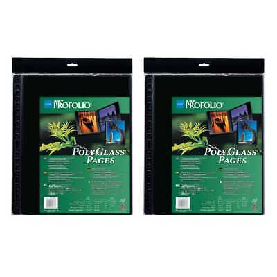 """Itoya A2 Size Art 16.5"""" x 23.4"""" Profolio Polyglass Pages (2-Pack)"""