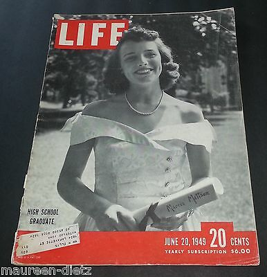 June 20, 1949 LIFE Magazine 40s Advertising ads add ad retro FREE SHIPPING 6 19
