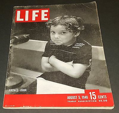 August 5, 1946 LIFE Magazine.  Bob Hope, FREE SHIPPING Aug 8 46 3 4 6 7 9 10 11