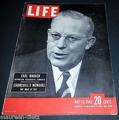 May 10, 1948 LIFE Magazine Churchill KOERNER 40s Advertising FREE SHIPPING 5 9 8