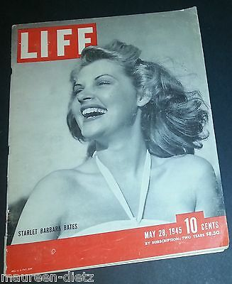 MaY 28, 1945 LIFE Magazine WWII War Okina 40s Advertising ads ad FREE SHIPPING 5