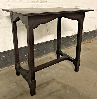 Old Antique Arts And Crafts Period Occasional Hall Side End Table Plant Stand