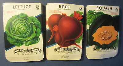 Wholesale Lot of 75 Old 1940's Vintage Vege SEED PACKETS - Lettuce Beet Squash