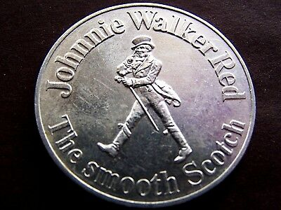 1972 NEW ORLEANS SAINTS Plain Aluminum 10g Schedule Doubloon by JOHNNIE WALKER