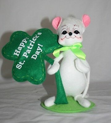 "Annalee St. Patrick's Day 8"" Happy St. Patrick's Day Mouse"