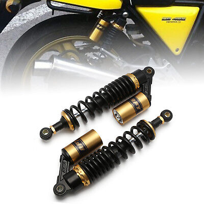 """1pair 13.5"""" 340mm Rear Shock Absorber Gas Suspension For Triumph BMW Harley Gold"""