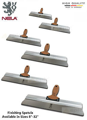 "NELA Finishing Spatula Plasterers Plastering Skimming Spat Choose From 8""-32"""