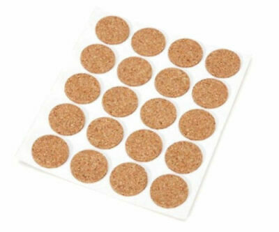 48 x Cork Pads Self Adhesive Protects Table / Work tops from scratches12mm Dia