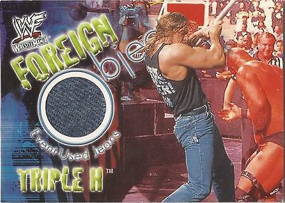 "WWF Wrestlemania - Foreign Objects ""Triple H"" Jeans Event Used Card"
