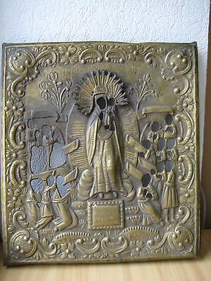 Russische Ikone,Antique Russian Orthodox icon riza from 19c.