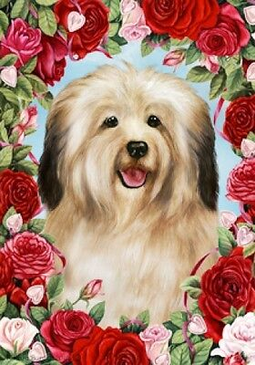 Garden Indoor/Outdoor Roses Flag - Cream Havanese 190971