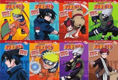 NARUTO UNCUT THE COMPLETE ANIME SERIES New DVD Seasons 1 2 3