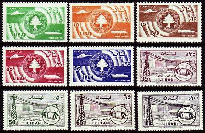 Libanon Lebanon 1957 ** Mi.611/19 Kommunikation Communication