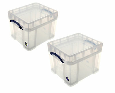 Really Useful Storage Box 35 Litre XL Pack of 2