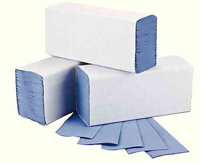2Work Blue 1-Ply M-Fold Hand Towel 242x240mm Pack of 3000