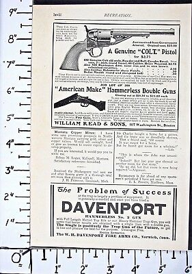 1904 COLT US Army cap & ball CARTRIDGE CONVERSION revolvers Vtg Print Ad 3579