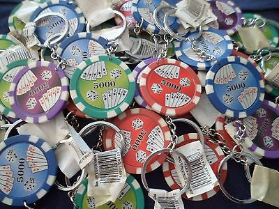 Players Club Lucky Charm Poker Chip Keychain NOS Fun Valentines Gift Lot of 2