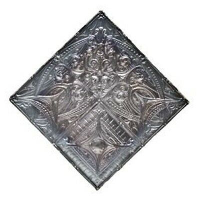 """Antique Architectural Deeply Embossed """"sullivanesque"""" Style Tin Ceiling Corner"""