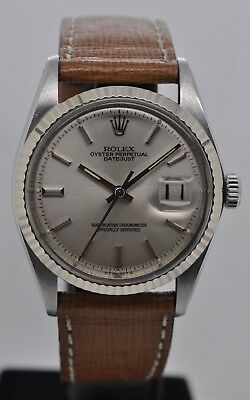 Rolex Datejust Stainless Steel Automatic Silver Dial 36mm Caliber 1570 Ref: 1601