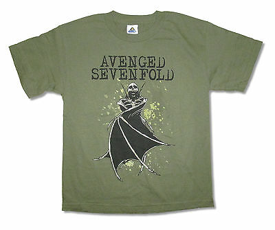 Avenged Sevenfold! Bat Wings Green T-Shirt Medium Med M New!