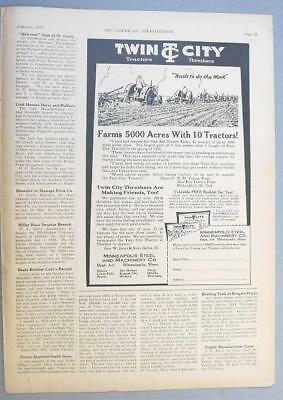 10x14 Orig 1928 M-M 17-30 B Tractor Ad What Couldn't You Do With A Rig Like This