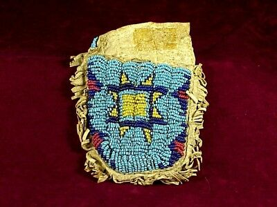 SIOUX BEADED Ration Ticket Pouch - Used for Food & Other Necessities