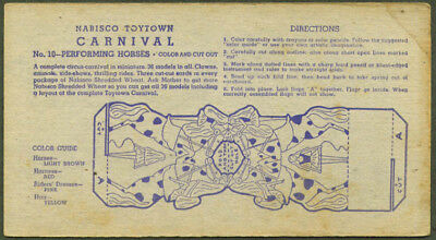 Nabisco Toytown Carnival card #10 Performing Horses