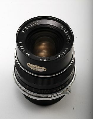 Vintage Promatic Auto Wideangle 28Mm 1: 2.8 Lens For Nikon Nice Used Cond. Japan