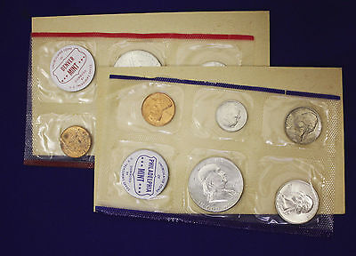"1960 Official U.S. Mint Set. Complete and original. 10 coins Both ""P"" & ""D"""